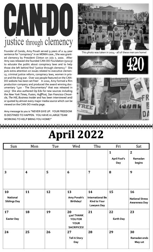 freedom grow forever calendar april 2022