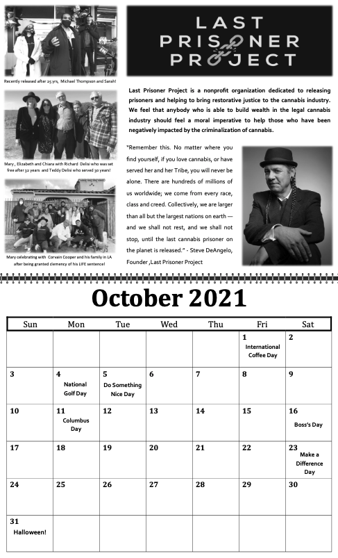 freedom grow forever calendar october 2021